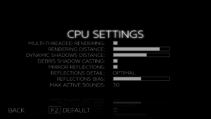 CPU Settings