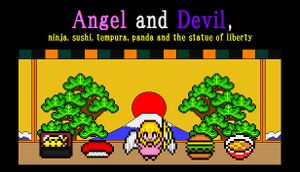 Angel and Devil,ninja,sushi,tempura,panda and the statue of liverty cover