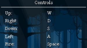 In-game keyboard controls.