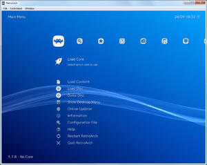 Main menu (default XMB skin.)