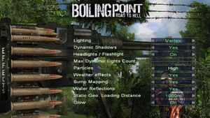 In-game custom effects settings.