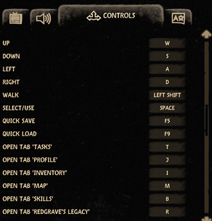 Keybinding settings.