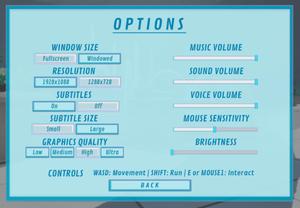 The settings menu.