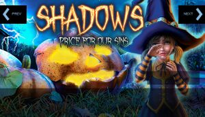 Shadows: Price for Our Sins cover