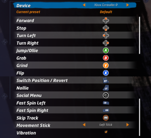 Xbox controller settings