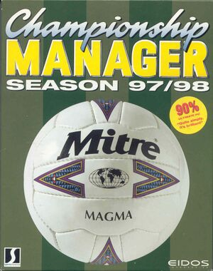 Championship Manager: Season 97/98 cover