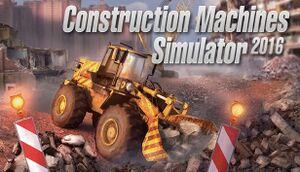 Construction Machines Simulator 2016 cover