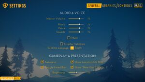 Ingame audio settings.
