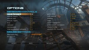 Keyboard and mouse settings.