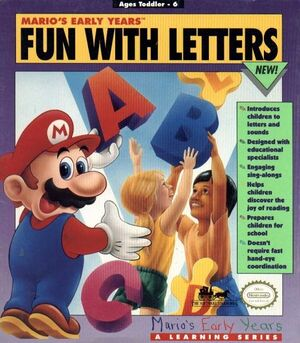 Mario's Early Years! Fun with Letters cover