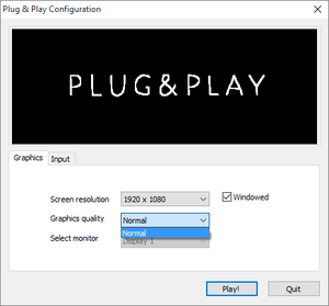 Unity launcher accessed by holding ⇧ Shift when starting the game..