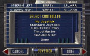 Supported joysticks.