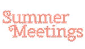 Summer Meetings cover