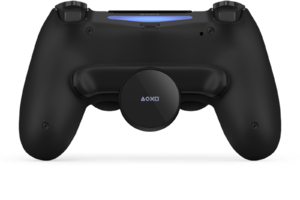 DUALSHOCK 4 Back Button Attachment with gamepad.