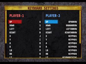 Default keyboard bindings