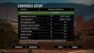 Combat keybindings