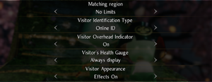 Online settings