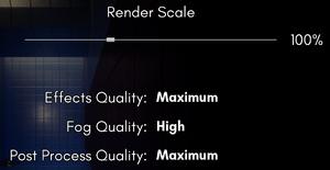 Visual quality settings.