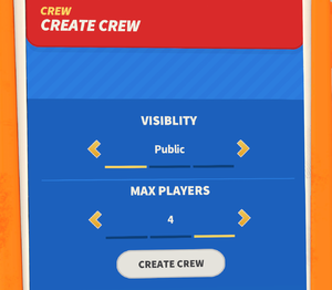 Multiplayer menu (Create Game)