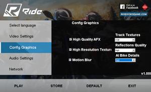 External graphic settings