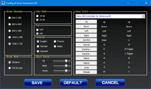 External configuration launcher settings.