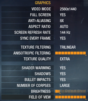 Graphics settings[Note 3]