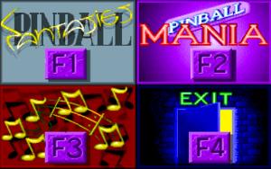 Pinball Fantasies Deluxe launcher.