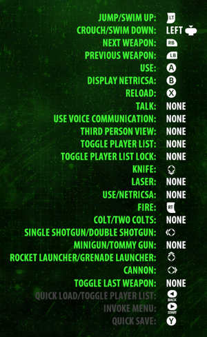 In-game gamepad button map settings.