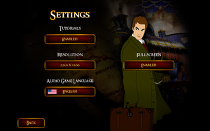 General settings (Gold Edition).