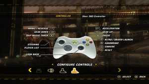 In-game Xbox controller mapping.