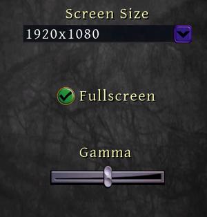Standard graphics settings.