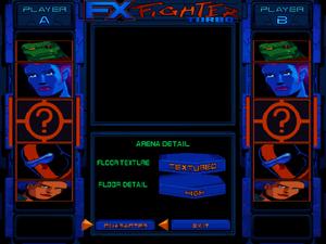 Arena graphics settings.