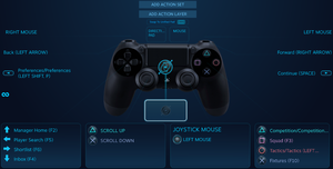 Sony PlayStation DualShock 4 controller Key Bindings through Steam Big Picture Mode