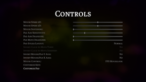 In-game input menu.
