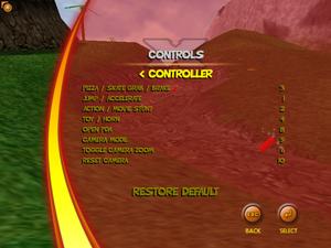 Controller Remap Screen