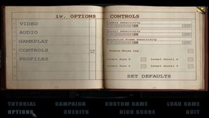 The expansion's control settings.