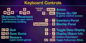 In-game keyboard controls (Windows).