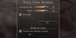 Voice settings.
