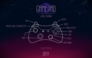 Default gamepad mapping.