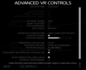 Advanced VR Controls