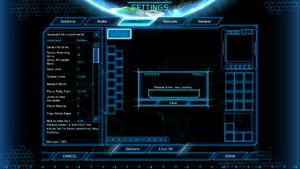 In-game key map settings.