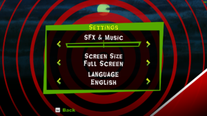General Settings.(They are the only options that the game has.)