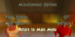 Miscellaneous options