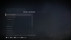 In-game mouse/keyboard settings (1/2).