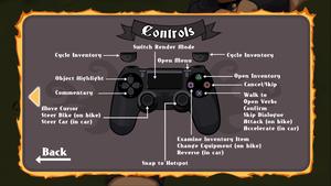 In-game gamepad controls menu