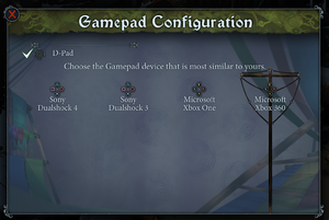 "Prompt selection menu (found under ""Map Controls"")."