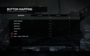 In-game key map settings.