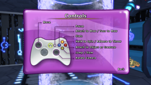 The gamepad layout for the game.