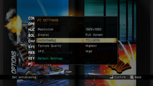 PC Settings menu.