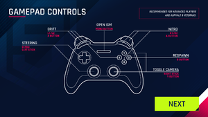 Controller buttons for manual mode.